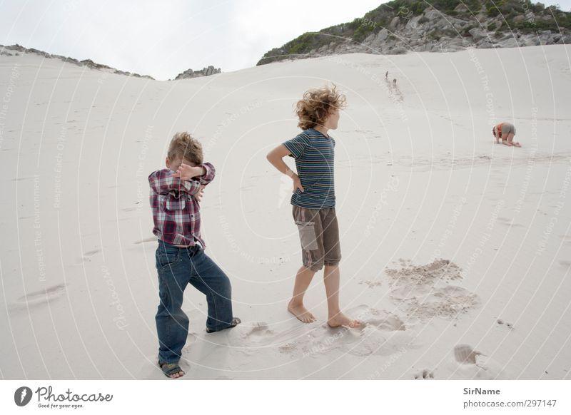 230 [Wind und Sand] Kind Natur Ferien & Urlaub & Reisen Landschaft Strand Junge Zusammensein Kindheit wild Freizeit & Hobby wandern frei Abenteuer bedrohlich