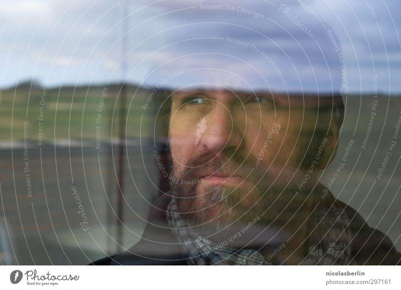 MP61 - Der Mann und das .. ehm .. ja .. Watt :) Natur Ferien & Urlaub & Reisen Landschaft Wolken Erwachsene Ferne Wiese Traurigkeit träumen Wetter Feld maskulin