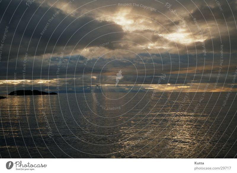 Meerblick Island Sommer Wolken