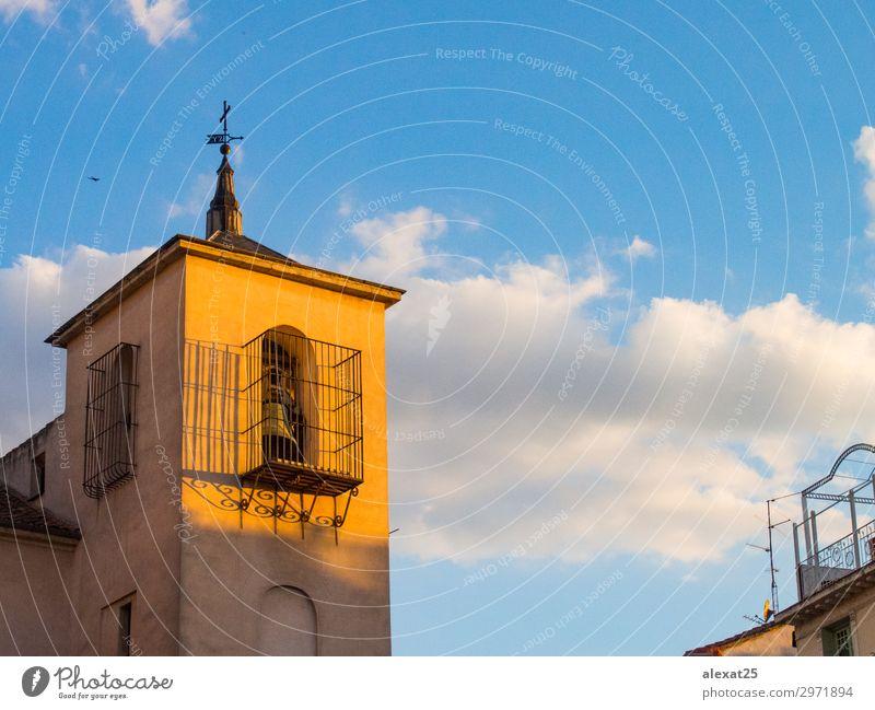 San Ildefonso Kirche in Madrid bei Sonnenuntergang schön Ferien & Urlaub & Reisen Landschaft Himmel Gebäude Architektur Straße alt Farbe Großstadt Europa