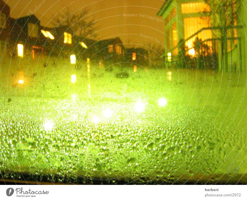 Kondens Nacht Aussicht Licht Wasser Wassertropfen