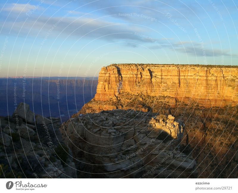 grand canyon Grand Canyon Arizona Schlucht Sonnenuntergang Riff tief Panorama (Aussicht) Berge u. Gebirge USA Felsen groß