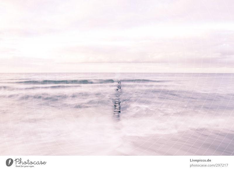 Ostseeküste Himmel Natur Ferien & Urlaub & Reisen Wasser Meer Einsamkeit Landschaft Wolken ruhig Strand Ferne Herbst Küste Wellen Wind violett