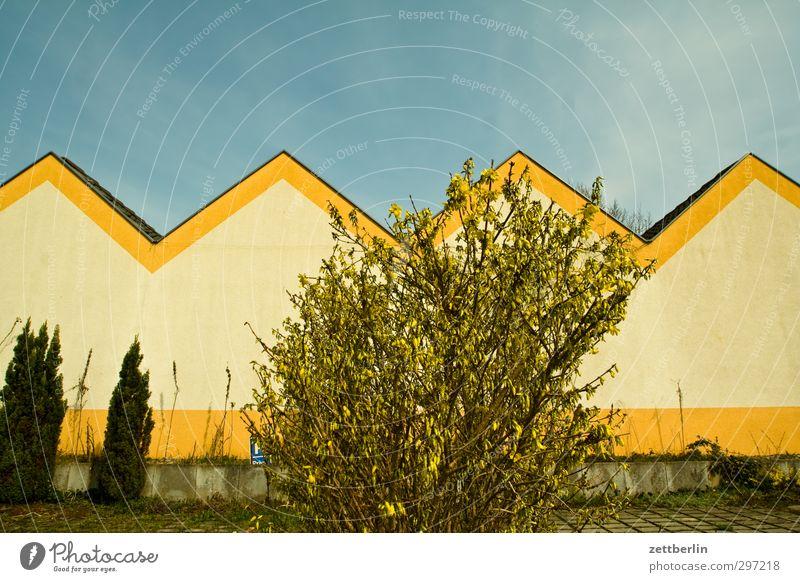 Borgsdorf Freizeit & Hobby Häusliches Leben Wohnung Haus Garten Himmel Frühling Klima Wetter Schönes Wetter Pflanze Baum Sträucher Park Dorf Kleinstadt Skyline