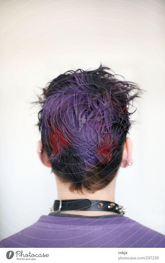Und wie Du wieder aussiehst...| Zumutung Lifestyle Stil Junge Jugendliche Leben Kopf Haare & Frisuren Rücken 1 Mensch 13-18 Jahre Kind Punk Accessoire Piercing