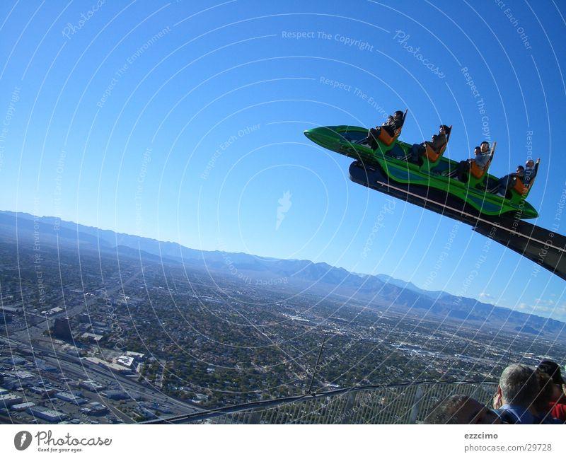 kitzelnde nerven Las Vegas Ferne Nevada Achterbahn Nordamerika hoch Wüste stratosphere