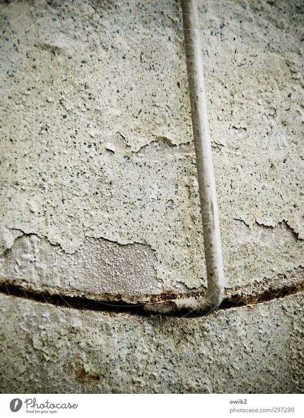 Keep Smiling Machine alt ruhig Wand Mauer Metall Fassade Spuren historisch Gelassenheit Riss hängen trashig bewegungslos Putz Fleck beweglich
