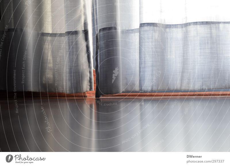 Vorhang blau schön ruhig Erholung Fenster Innenarchitektur Architektur hell Stimmung Raum Wohnung glänzend Zufriedenheit Häusliches Leben Dekoration & Verzierung ästhetisch