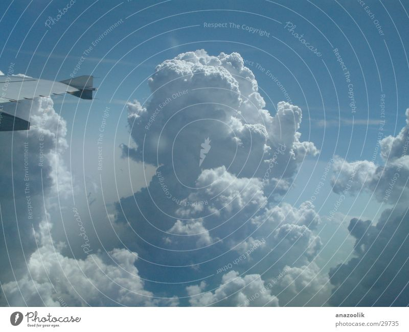 Cumulunimbus Himmel Wolken Kumulus Flugzeugausblick Amboss