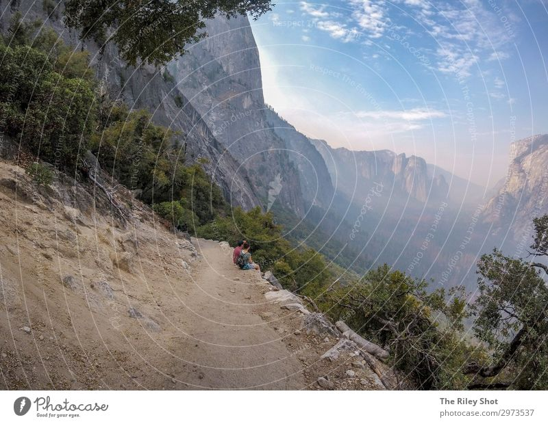 Himmel Ferien & Urlaub & Reisen Natur Sommer blau Farbe schön grün Landschaft Sonne Baum Wald Berge u. Gebirge Gesundheit Lifestyle Leben