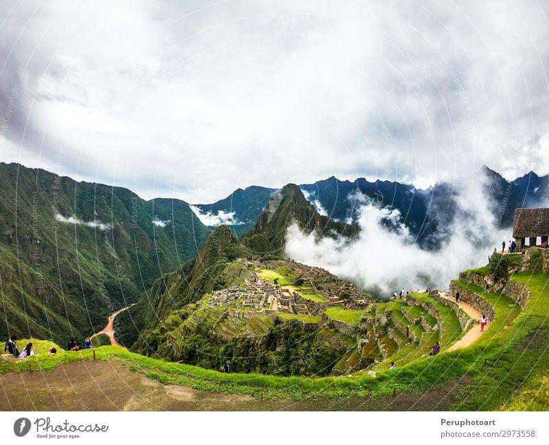 Himmel Ferien & Urlaub & Reisen alt grün Landschaft Wald Berge u. Gebirge Architektur Wege & Pfade Tourismus Stein Erde Felsen Nebel Kultur historisch