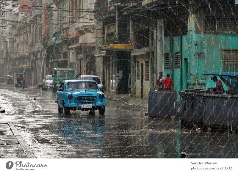 Havana, Cuba Ferien & Urlaub & Reisen Tourismus Abenteuer Ferne Sightseeing Städtereise Sommer Sommerurlaub Wassertropfen Wetter schlechtes Wetter Regen Havanna