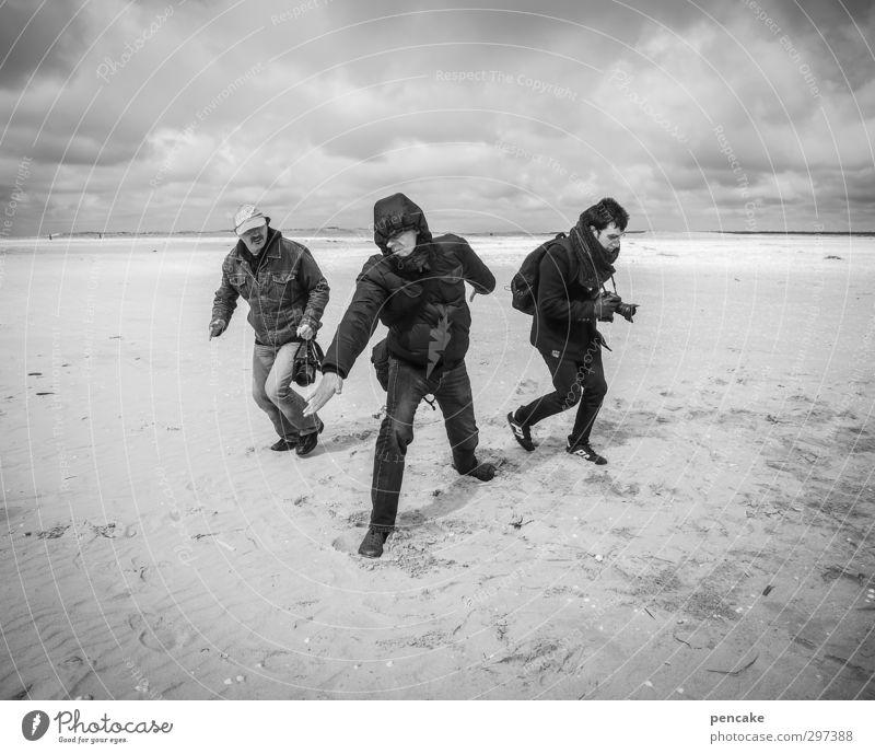 Rømø | groovin' the beach Mensch maskulin Erwachsene 3 Tanzen Tänzer Jugendkultur Musik Neue Medien Strand Sand Wasser Freude Frühlingsgefühle Optimismus