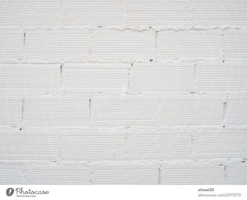 Wand aus Ziegelsteinen, weiß gestrichen Design Tapete Gebäude Architektur Beton Backstein alt Sauberkeit Hintergrund Klotz Baustein Backsteinwand Mauerwerk