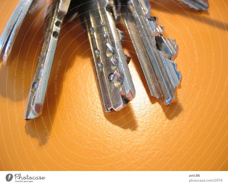 Schlüssel orange Metall Sicherheit Technik & Technologie Schlüssel Elektrisches Gerät