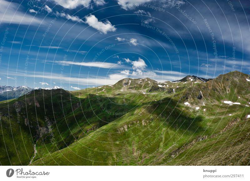 unlimited Umwelt Natur Landschaft Pflanze Erde Luft Himmel Wolken Horizont Sonne Sonnenlicht Sommer Wetter Schönes Wetter Schnee Gras Hügel Felsen Alpen
