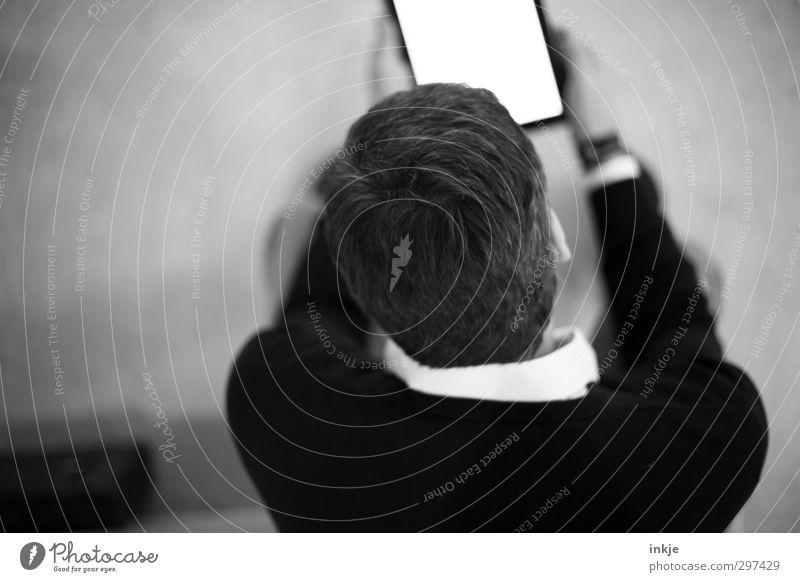 Lesen Mensch Mann Erwachsene Leben Kopf Business Freizeit & Hobby Häusliches Leben Lifestyle Rücken lernen lesen Bildung Internet Erwachsenenbildung Information