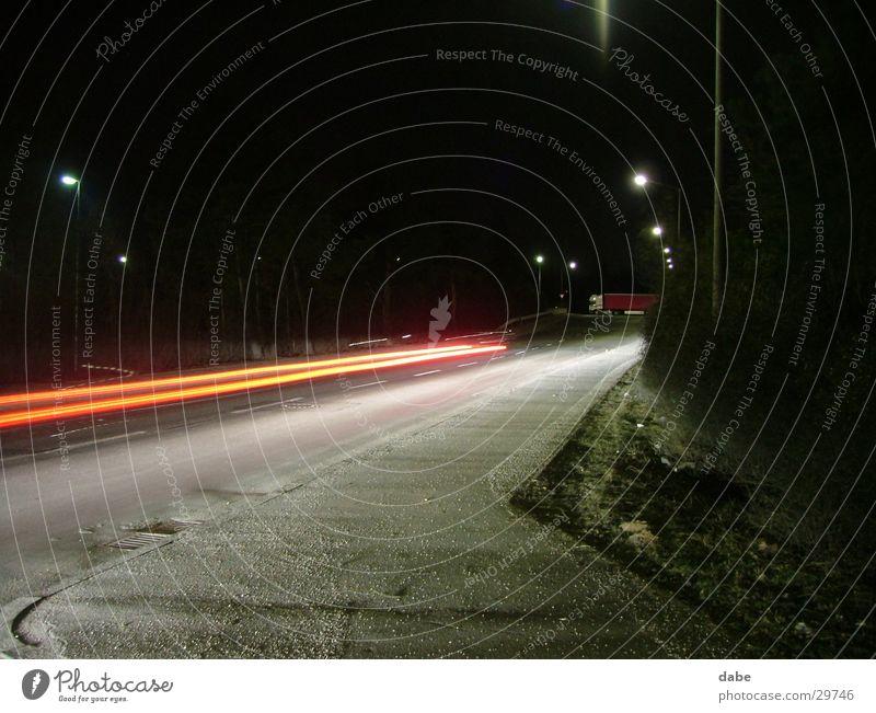 hafen nbg 04 Lastwagen Geschwindigkeit Nacht Licht Verkehr Straße Hafen