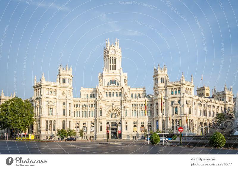 Palast der Kommunikation auf dem Cibeles-Platz, Madrid Ferien & Urlaub & Reisen Tourismus Kunst Kultur Gebäude Architektur Fassade Denkmal alt Kommunizieren