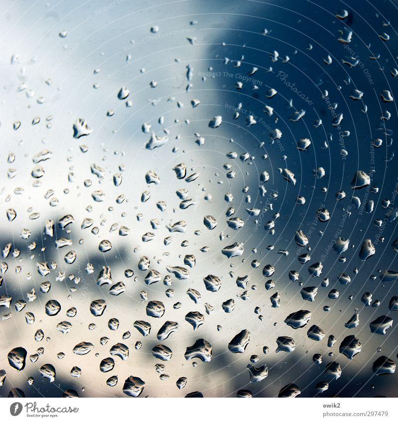 Welt voller Wunder Umwelt Luft Wasser Wassertropfen Himmel Wolken Gewitterwolken Klima Wetter Unwetter Regen hängen Flüssigkeit frisch glänzend klein nah nass