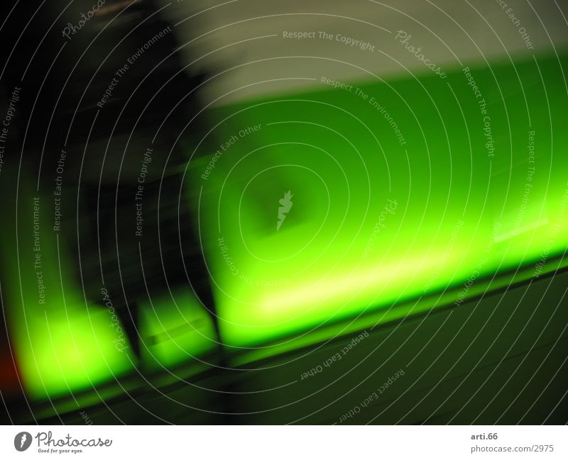 Neon grün grün Neonlicht Schaufenster