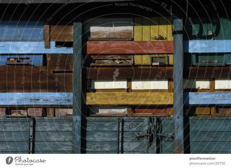 Bienenhaus Natur Holz Dinge Bienenstock Bauwagen