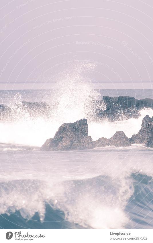 oh Bali Ferien & Urlaub & Reisen Freiheit Strand Meer Insel Umwelt Natur Wasser Himmel Wolken Sommer Wind Wellen Küste Bucht Stein Kraft Farbfoto Außenaufnahme