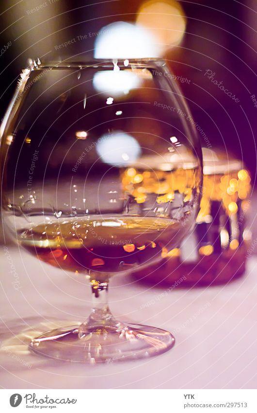 Cognac-Time Erholung Wärme ästhetisch Getränk Ernährung weich genießen Kerze trinken Ziel Gastronomie Bar Geschirr Duft Alkohol Geruch