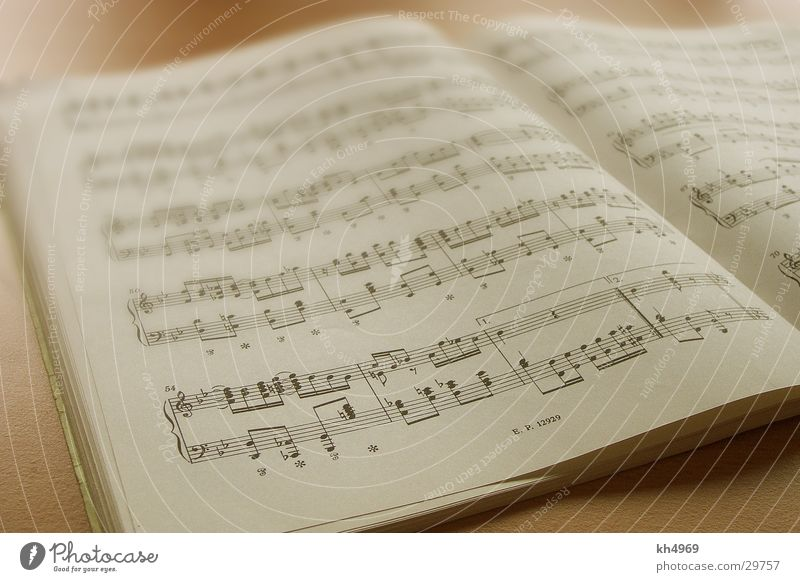 Notenblatt Papier Freizeit & Hobby Musiknoten