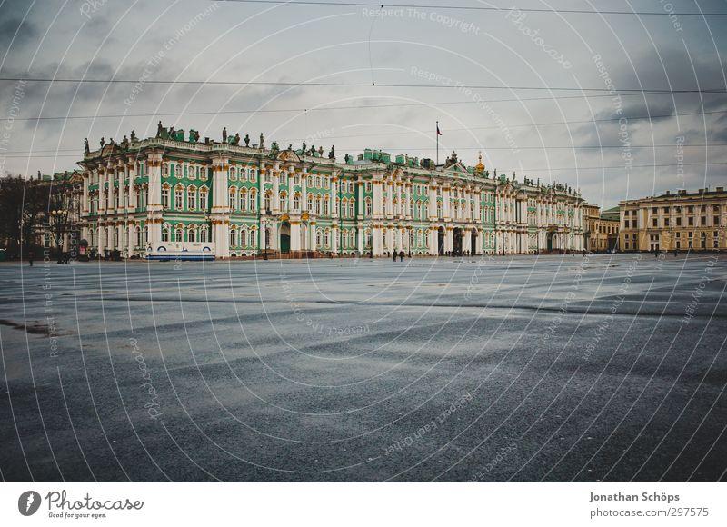 St. Petersburg I Russland Hafenstadt Stadtzentrum Haus Palast Bauwerk Gebäude Architektur Sehenswürdigkeit blau Museum Platz Größe groß Ausstellung Reichtum
