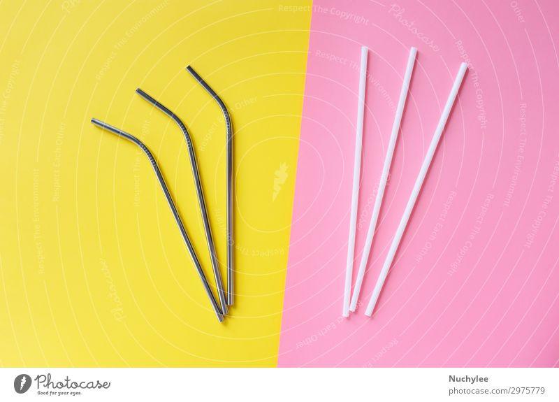 Farbe weiß Lifestyle gelb Umwelt rosa Design hell Metall frei modern Freundlichkeit Getränk Symbole & Metaphern trinken Kunststoff