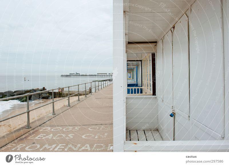 Southwold Pier Himmel Ferien & Urlaub & Reisen Wasser Meer Einsamkeit Landschaft Wolken Strand Haus Architektur Holz Küste Gebäude Stein Sand Horizont