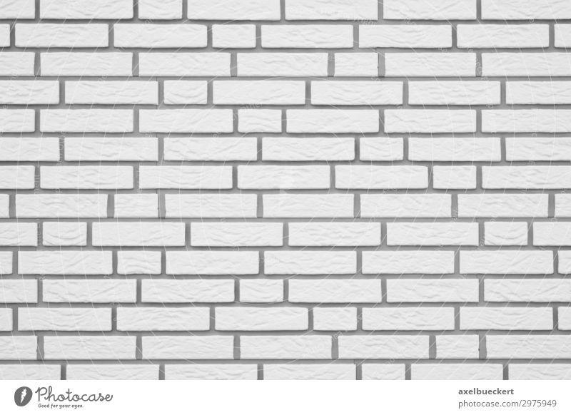 Klinker Mauer Hintergrund weiss Wand Fassade weiß Hintergrundbild horizontal Architektur Gebäudeteil Backstein Textfreiraum Baustelle Strukturen & Formen Muster