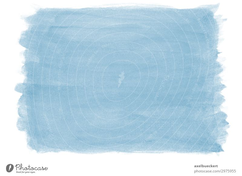 handgemalter Hintergrund mit blauer Tusche Hintergrundbild Kunst Design Freizeit & Hobby malen Gemälde Kunstwerk Aquarell hell-blau Wasserfarbe Pinselstrich