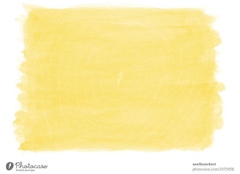 handgemalter Wasserfarbe Hintergrund gelb Hintergrundbild Kunst Textfreiraum Design Freizeit & Hobby malen Kunstwerk Aquarell Tusche Pinselstrich