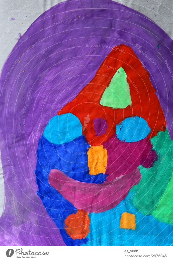 Portrait Kindererziehung Kindergarten Schule Frau Erwachsene Leben Haare & Frisuren Gesicht Auge Mund 1 Mensch Kunst Künstler Maler Ausstellung Kunstwerk
