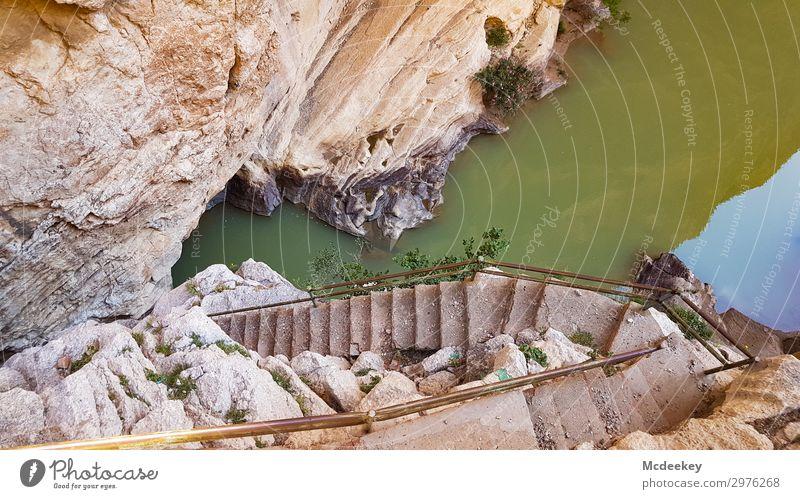 Caminito del Rey Natur Sommer Stadt grün weiß Landschaft Sonne schwarz Wärme Umwelt natürlich Wege & Pfade außergewöhnlich orange braun Felsen