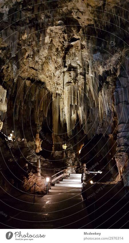 Cueva de Nerja Umwelt Natur Landschaft Sommer Schönes Wetter Höhle Tropfsteine Tropfsteinhöhle Andalusien Spanien Europa Sehenswürdigkeit außergewöhnlich dunkel