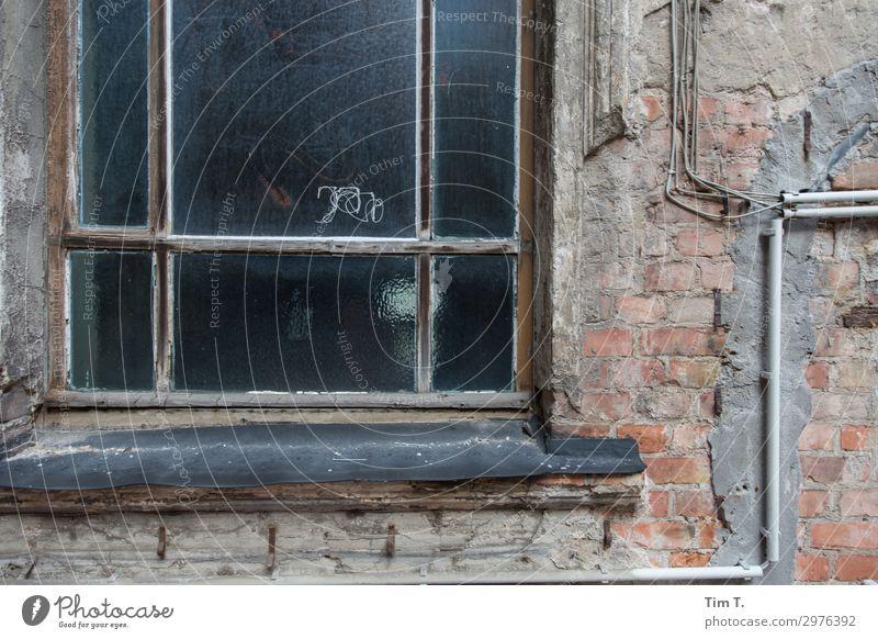Prenzlauer Berg Stadt Hauptstadt Stadtzentrum Altstadt Menschenleer Haus Bauwerk Gebäude Mauer Wand Fassade Fenster Sorge Häusliches Leben Altbau Farbfoto
