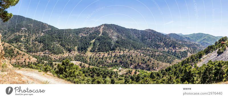 Mountain street in inland Andalucia Natur Landschaft Ferne Berge u. Gebirge Freiheit Freizeit & Hobby wandern Klima Sierra de Grazalema