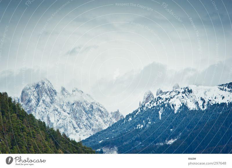 Jodlhoam Himmel Natur blau Ferien & Urlaub & Reisen grün Landschaft Wolken Winter Wald Umwelt Berge u. Gebirge kalt Schnee Frühling Wetter Klima