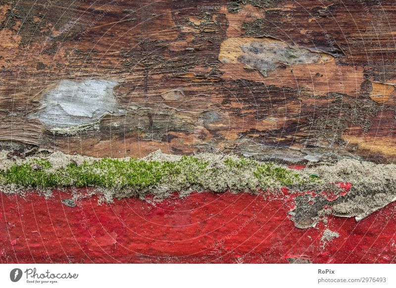 Detail eines historischen Schiffsrumpfs. Farbe Beschriftung Anode Opferanode Tiefgang Seefahrt ship Technik Frachtschiff Hafen Harbour Bug vessel Kiel Halt