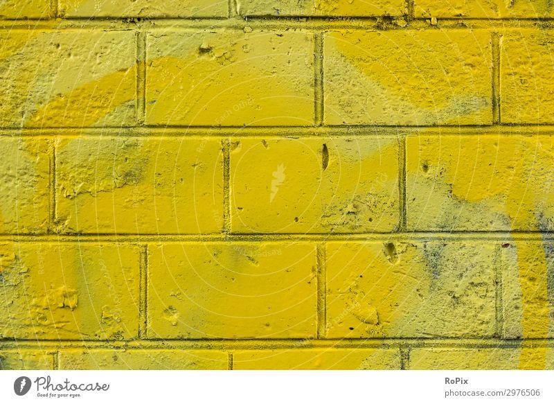 bemalte Stadtmauer Lifestyle Stil Design Sightseeing Städtereise Schulhof Wirtschaft Industrie Handel Kunst Künstler Kunstwerk Skulptur Architektur Umwelt Sonne