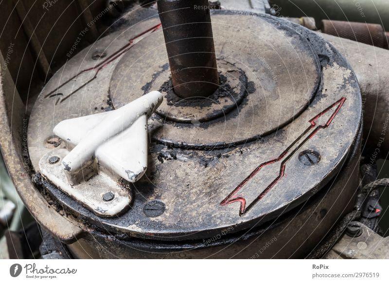 Detail einer russischen Flugabwehrkanone. Design Handarbeit Wissenschaften Arbeitsplatz Wirtschaft Industrie Maschine Messinstrument Technik & Technologie