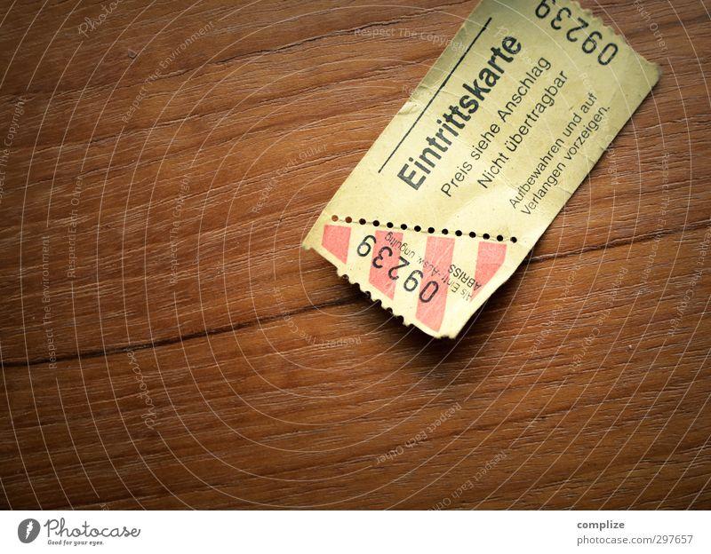 Freikarte Holz Zeit Feste & Feiern Kunst Musik warten Papier Ziffern & Zahlen retro Filmindustrie Veranstaltung Theaterschauspiel Konzert Zoo Theater Geld