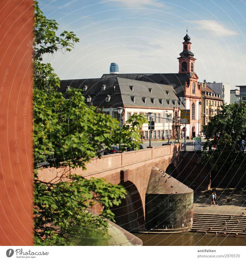 Brücken schlagen! Lifestyle Ferien & Urlaub & Reisen Tourismus Ausflug Sightseeing Städtereise Sommer Schönes Wetter Fluss Main Frankfurt am Main Deutschland