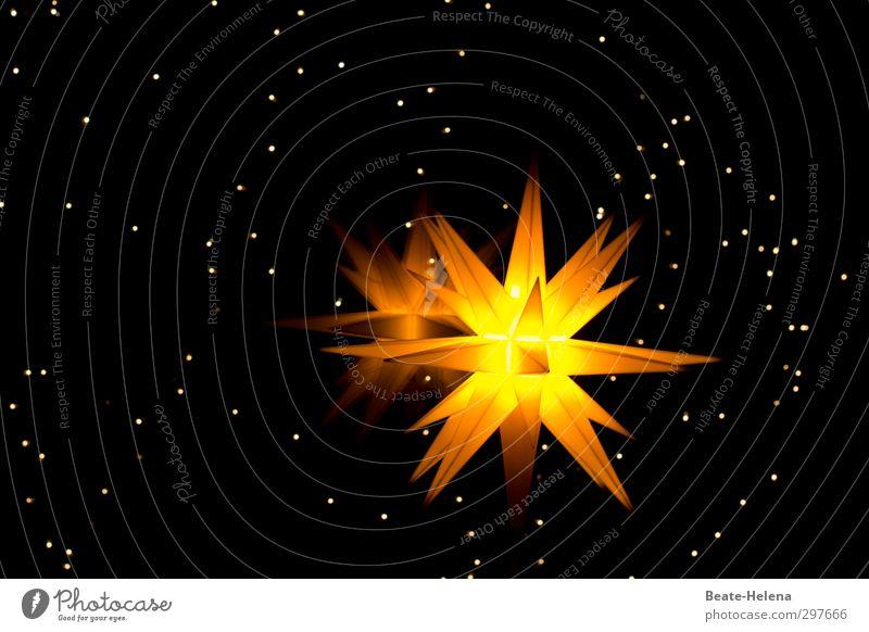 Da hab ich mir soviel Mühe gegeben! Himmel Weihnachten & Advent Freude schwarz gelb Feste & Feiern Stimmung hell Horizont leuchten ästhetisch Zukunft Stern Hoffnung Weltall Gelassenheit