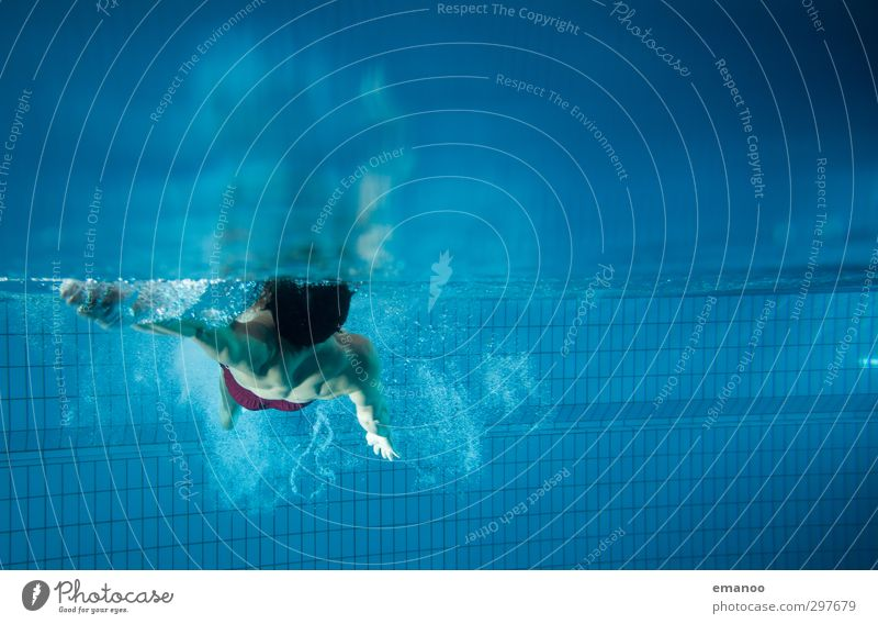Rücken Gesundheit Wellness Leben Schwimmen & Baden Sport Fitness Sport-Training Wassersport Sportler tauchen Schwimmbad Mensch Mann Erwachsene Körper 1 Luft