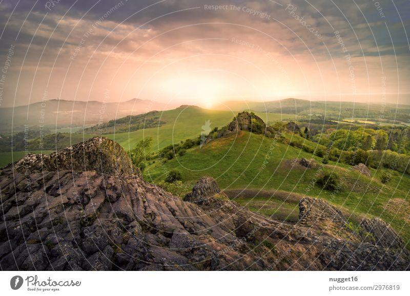 die Helfensteine bei Zierenberg / Nordhessen Himmel Ferien & Urlaub & Reisen Natur Sommer Pflanze grün Landschaft Sonne Baum Wolken Wald Berge u. Gebirge Herbst