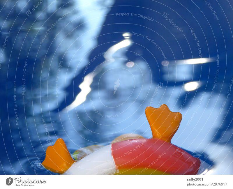 Rettungsring für Badeenten... Rettungsreifen Schwimmreifen Figur Plastik Wasser Swimmingpool Schwimmbecken schwimmen Schieflage umkippen untergehen retten Hilfe